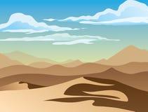 Υπόβαθρο του τοπίου με την έρημο διανυσματική απεικόνιση