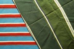 Υπόβαθρο του υφάσματος βαμβακιού των πολυ χρωμάτων του υφάσματος Στοκ Φωτογραφίες