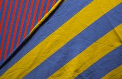 Υπόβαθρο του υφάσματος βαμβακιού των πολυ χρωμάτων του υφάσματος Στοκ Εικόνα