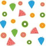 Υπόβαθρο του φωτεινού σχεδίου φρούτων διανυσματική απεικόνιση