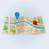 Υπόβαθρο του χάρτη περιοχών πόλης Στοκ φωτογραφίες με δικαίωμα ελεύθερης χρήσης