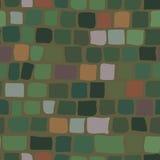 Υπόβαθρο τούβλου στο πράσινο χρώμα άνευ ραφής σύσταση Διανυσματική απεικόνιση