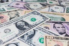 Υπόβαθρο τραπεζογραμματίων αμερικανικών δολαρίων Στοκ Εικόνες