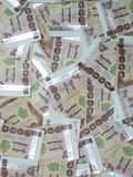 Υπόβαθρο τραπεζογραμματίων χιλίων μπατ Στοκ Εικόνες