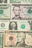 Υπόβαθρο τραπεζογραμματίων χρημάτων ΑΜΕΡΙΚΑΝΙΚΩΝ δολαρίων Στοκ Εικόνες