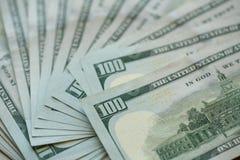 Υπόβαθρο τραπεζογραμματίων χρημάτων ΑΜΕΡΙΚΑΝΙΚΩΝ δολαρίων Στοκ Φωτογραφία
