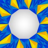 Υπόβαθρο τριγώνων κίτρινο και μπλε Στοκ Φωτογραφία