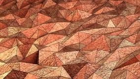 Υπόβαθρο τριγώνων χαλκού Στοκ εικόνες με δικαίωμα ελεύθερης χρήσης