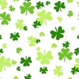 Υπόβαθρο τριφυλλιού, Άγιος Πάτρικ Day Pattern, πράσινο άνευ ραφής κεραμίδι τριφυλλιών ελεύθερη απεικόνιση δικαιώματος