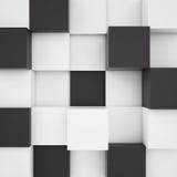 Υπόβαθρο των άσπρων και μαύρων κύβων Στοκ Φωτογραφία