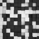 Υπόβαθρο των άσπρων και μαύρων κύβων Στοκ Εικόνα