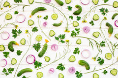 Υπόβαθρο των ακατέργαστων λαχανικών στοκ εικόνα με δικαίωμα ελεύθερης χρήσης