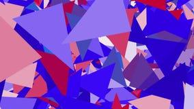 Υπόβαθρο των αφηρημένων τριγώνων στο μπλε διανυσματική απεικόνιση