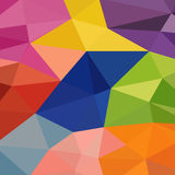 Υπόβαθρο των γεωμετρικών μορφών ζωηρόχρωμο πρότυπο μωσαϊκών Αναδρομικό τ Στοκ Εικόνες