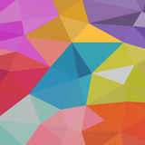 Υπόβαθρο των γεωμετρικών μορφών ζωηρόχρωμο πρότυπο μωσαϊκών αναδρομικό τρίγωνο ανασκόπησης Στοκ Φωτογραφίες