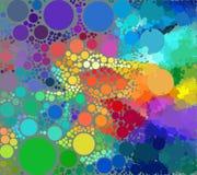 Υπόβαθρο των γεωμετρικών χρωματισμένων κύκλων Στοκ Εικόνες