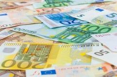 Υπόβαθρο των ευρο- τραπεζογραμματίων Στοκ εικόνες με δικαίωμα ελεύθερης χρήσης