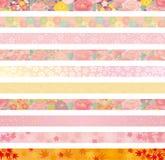 Ιαπωνική floral επιγραφή ελεύθερη απεικόνιση δικαιώματος