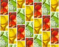 Υπόβαθρο των κεραμιδιών των φετών φρούτων Στοκ εικόνες με δικαίωμα ελεύθερης χρήσης