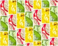 Υπόβαθρο των κεραμιδιών των φετών φρούτων Στοκ Εικόνα