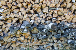 Υπόβαθρο των κομμένων κούτσουρων σημύδων Στοκ φωτογραφίες με δικαίωμα ελεύθερης χρήσης