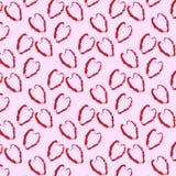 Υπόβαθρο των κόκκινων καρδιών στο ρόδινο υπόβαθρο ελεύθερη απεικόνιση δικαιώματος