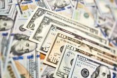 Υπόβαθρο των λογαριασμών 100 δολαρίων Αμερικανικό βισμούθιο εκατό δολαρίων χρημάτων Στοκ Φωτογραφίες
