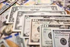 Υπόβαθρο των λογαριασμών 100 δολαρίων Αμερικανικό βισμούθιο εκατό δολαρίων χρημάτων Στοκ Φωτογραφία