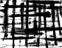 Υπόβαθρο των μαύρων τεμνόμενων κτυπημάτων βουρτσών Στοκ Εικόνες