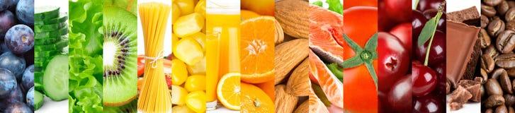 Υπόβαθρο των μικτών φρέσκων ώριμων τροφίμων χρώματος στοκ εικόνα