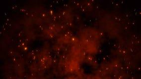 Υπόβαθρο των μορίων πυρκαγιάς απεικόνιση αποθεμάτων