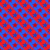 Υπόβαθρο των μπλε και κόκκινων αστεριών διαδοχικά δίπλα-δίπλα και το ένα κάτω από το άλλο διαγώνια στις χρωματισμένες κορδέλλες στοκ φωτογραφίες με δικαίωμα ελεύθερης χρήσης