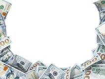 Υπόβαθρο των νέων λογαριασμών δολαρίων με το διάστημα για το κείμενο Στοκ φωτογραφία με δικαίωμα ελεύθερης χρήσης