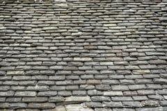 Υπόβαθρο των παλαιών κεραμιδιών στεγών πετρών Στοκ Εικόνες
