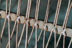 Υπόβαθρο των πλεγμένων ξύλινων ράβδων Στοκ Φωτογραφία