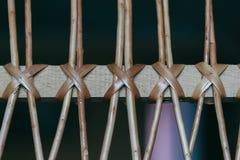 Υπόβαθρο των πλεγμένων ξύλινων ράβδων Στοκ εικόνες με δικαίωμα ελεύθερης χρήσης