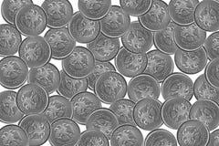 Υπόβαθρο των ρωσικών νομισμάτων στις μετονομασίες 5 ρουβλιών σε ένα άσπρο υπόβαθρο στοκ εικόνες με δικαίωμα ελεύθερης χρήσης