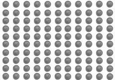 Υπόβαθρο των ρωσικών νομισμάτων στις μετονομασίες 5 ρουβλιών σε ένα άσπρο υπόβαθρο στοκ φωτογραφία με δικαίωμα ελεύθερης χρήσης