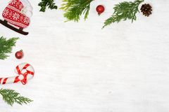Υπόβαθρο των στοιχείων Χριστουγέννων Στοκ Φωτογραφία