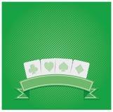 υπόβαθρο των συμβόλων πόκερ Στοκ Εικόνες