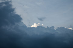 υπόβαθρο των σύννεφων θύελλας πριν από μια θύελλα βροντής Στοκ Φωτογραφία
