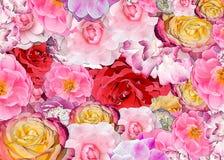 Υπόβαθρο των τριαντάφυλλων για τις διακοπές Στοκ Φωτογραφίες