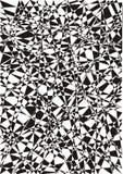Υπόβαθρο των τριγώνων και των ευθειών γραμμών μαύρο λευκό Στοκ Εικόνες