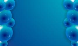 Υπόβαθρο των υπερεμφανιζόμενων μπαλονιών με το διάστημα για το κείμενο στο μπλε διανυσματική απεικόνιση
