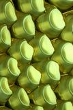 Υπόβαθρο των φορμαρισμένων πλαστικών, πράσινο Στοκ Φωτογραφία
