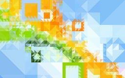 Υπόβαθρο των χρωματισμένων γεωμετρικών μορφών Στοκ Φωτογραφία