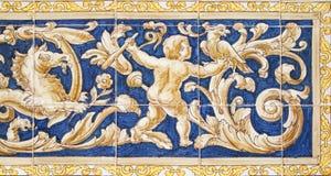 Υπόβαθρο των azulejos, Plaza de Espana στη Σεβίλλη Στοκ εικόνες με δικαίωμα ελεύθερης χρήσης