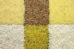 Υπόβαθρο των dyfferent τύπων δημητριακών στοκ φωτογραφία