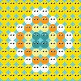Υπόβαθρο των emoticons Στοκ εικόνες με δικαίωμα ελεύθερης χρήσης