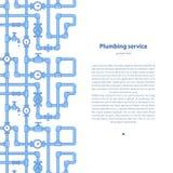 Υπόβαθρο υπηρεσιών υδραυλικών με την περιοχή κειμένων Στοκ Εικόνα
